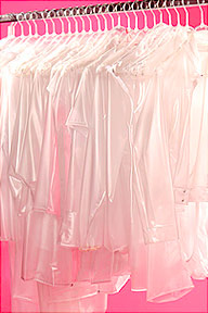 new transparent pvc clothing